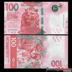 HONG KONG - HSBC - Billet de 100 DOLLARS - Opéra cantonais - 2018 P218a