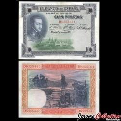 ESPAGNE - Billet de 100 Pesetas - Felipe II - 1925 / 1936 P69c1