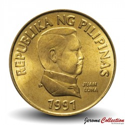 PHILIPPINES - PIECE de 25 Sentimo - Papillon Graphium idaeoides - 1991