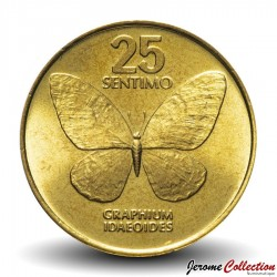 elf Philippines  25 Sentimo 1990  Butterfly