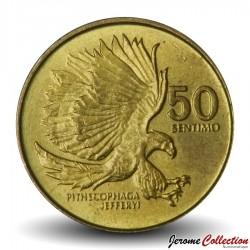 PHILIPPINES - PIECE de 50 Sentimo - Un aigle des singes  - 1992
