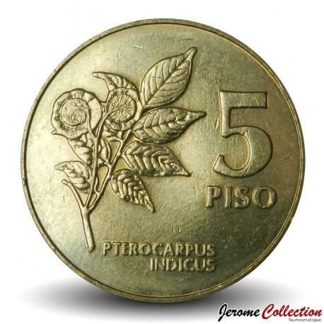 PHILIPPINES - PIECE de 5 Piso - Emilio Aguinaldo - 1991