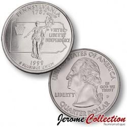 ETATS UNIS / USA - PIECE de 25 Cents (Quarter States) - Pennsylvannie - 1999 - P
