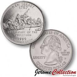 ETATS UNIS / USA - PIECE de 25 Cents (Quarter States) - New Jersey - 1999 - P