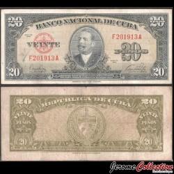 CUBA - Billet de 20 Pesos - Antonio Maceo - 1949