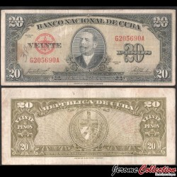 CUBA - Billet de 20 Pesos - Antonio Maceo - 1958