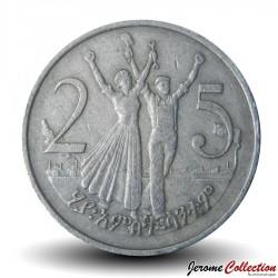 ETHIOPIE - PIECE de 25 Santeem - 1977