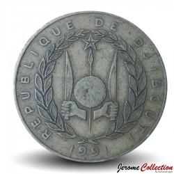 DJIBOUTI - PIECE de 20 FRANCS - Vue du port de Djibouti - 1991