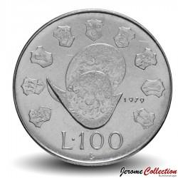 SAINT-MARIN - PIECE de 100 Lire - Casque ancien - 1979