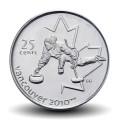 CANADA - PIECE de 25 CENTS - Vancouver 2010 - Curling - 2007 Km#682