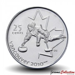 CANADA - 25 CENTS - Vancouver 2010 - Curling - 2007