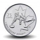 CANADA - PIECE de 25 CENTS - Vancouver 2010 - Curling - 2007