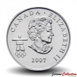 CANADA - PIECE de 25 CENTS - Vancouver 2010 - Curling - 2007