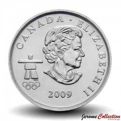 CANADA - PIECE de 25 CENTS - Vancouver 2010 - Patinage de vitesse - 2009