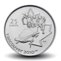 CANADA - PIECE de 25 CENTS - Vancouver 2010 - Bobsleigh - 2008 Km#841