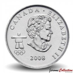 CANADA - PIECE de 25 CENTS - Vancouver 2010 - Bobsleigh - 2008