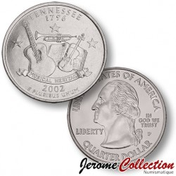 ETATS UNIS / USA - PIECE de 25 Cents (Quarter States) - Tennessee - 2002 - P