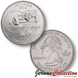 ETATS UNIS / USA - PIECE de 25 Cents (Quarter States) - Indiana - 2002 - D