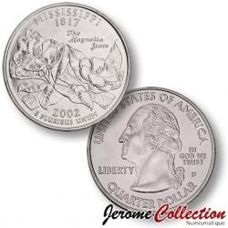 ETATS UNIS / USA - PIECE de 25 Cents (Quarter States) - Mississippi - 2002 - D