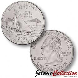 ETATS UNIS / USA - PIECE de 25 Cents (Quarter States) - Rhode Island - 2001 - P