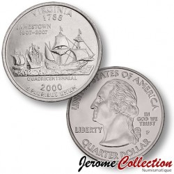 ETATS UNIS / USA - PIECE de 25 Cents (Quarter States) - Virginie - 2000 - P