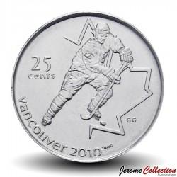CANADA - PIECE de 25 CENTS - Vancouver 2010 - Hockey sur glace - 2007 Km#683