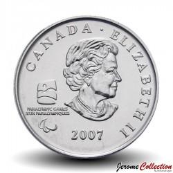 CANADA - PIECE de 25 CENTS - Vancouver 2010 - Hockey sur glace - 2007