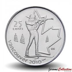 CANADA - PIECE de 25 CENTS - Vancouver 2010 - Biathlon - 2007 Km#685
