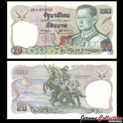 THAILANDE - Billet de 10 Baht - Statue de Taksin à Chantaburi - 1981