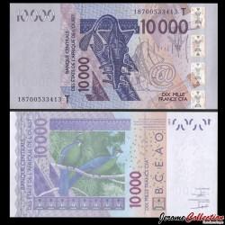 BCEAO - TOGO - Billet de 10000 Francs - Oiseau Touraco à gros bec - 2018