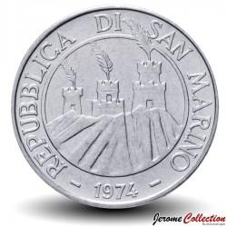 SAINT-MARIN - PIECE de 100 Lires - Chèvre Stylisée - 1974