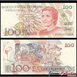 BRESIL - Billet de 100 Cruzados Novos - 1990 P228a