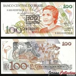 BRESIL - Billet de 100 Cruzeiros - 1990 P224b