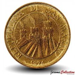 SAINT-MARIN - PIECE de 20 Lires - Homard - 1974