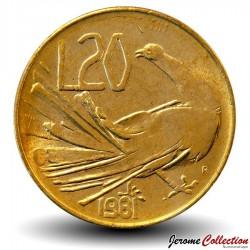 SAINT-MARIN - PIECE de 20 Lires - Oiseau - 1981