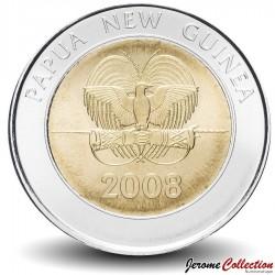 PAPOUASIE NOUVELLE GUINEE - PIECE de 2 Kina - 35e anniversaire de la banque nationale - 2008