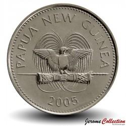 PAPOUASIE NOUVELLE GUINEE - PIECE de 20 Toea - Casoar - 2005