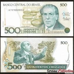 BRESIL - Billet de 500 Cruzados - Heitor Villa Lobos - 1987 P212c