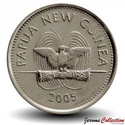 PAPOUASIE NOUVELLE GUINEE - PIECE de 5 Toea - Tortue à nez de cochon - 2005
