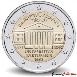 ESTONIE - PIECE de 2 Euro - Université de Tartu - 2019 Km#new