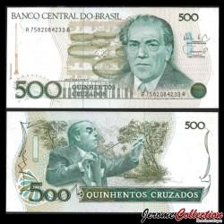 BRESIL - Billet de 500 Cruzados - 1986-1988