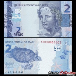 BRESIL - Billet de 2 Reais - 2010
