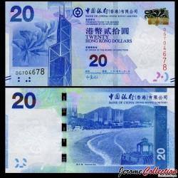 HONG KONG - Bank Of China (Hong Kong) Ltd - Billet de 20 DOLLARS - 2014 P341d