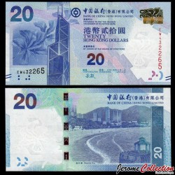 HONG KONG - Bank Of China (Hong Kong) Ltd - Billet de 20 DOLLARS - 2015 P341e