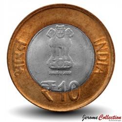 INDE - PIECE de 10 ROUPIES - 60 ans du Parlement de l'Inde - 2012