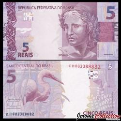 BRESIL - Billet de 5 Reais - 2010 P253b