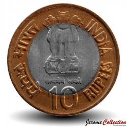 INDE - PIECE de 10 ROUPIES - 100 Ans de la naissance de Homi Bhabha - 2009