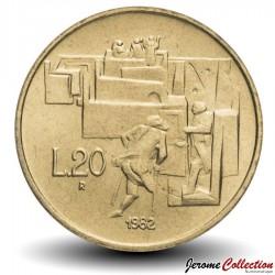 SAINT-MARIN - PIECE de 20 Lires - Réalisations sociales - 1982 Km#135