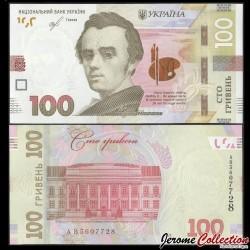 UKRAINE - Billet de 100 Hriven - Taras Chevtchenko - 2019