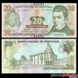 HONDURAS - Billet de 20 Lempiras - 28.12.2016